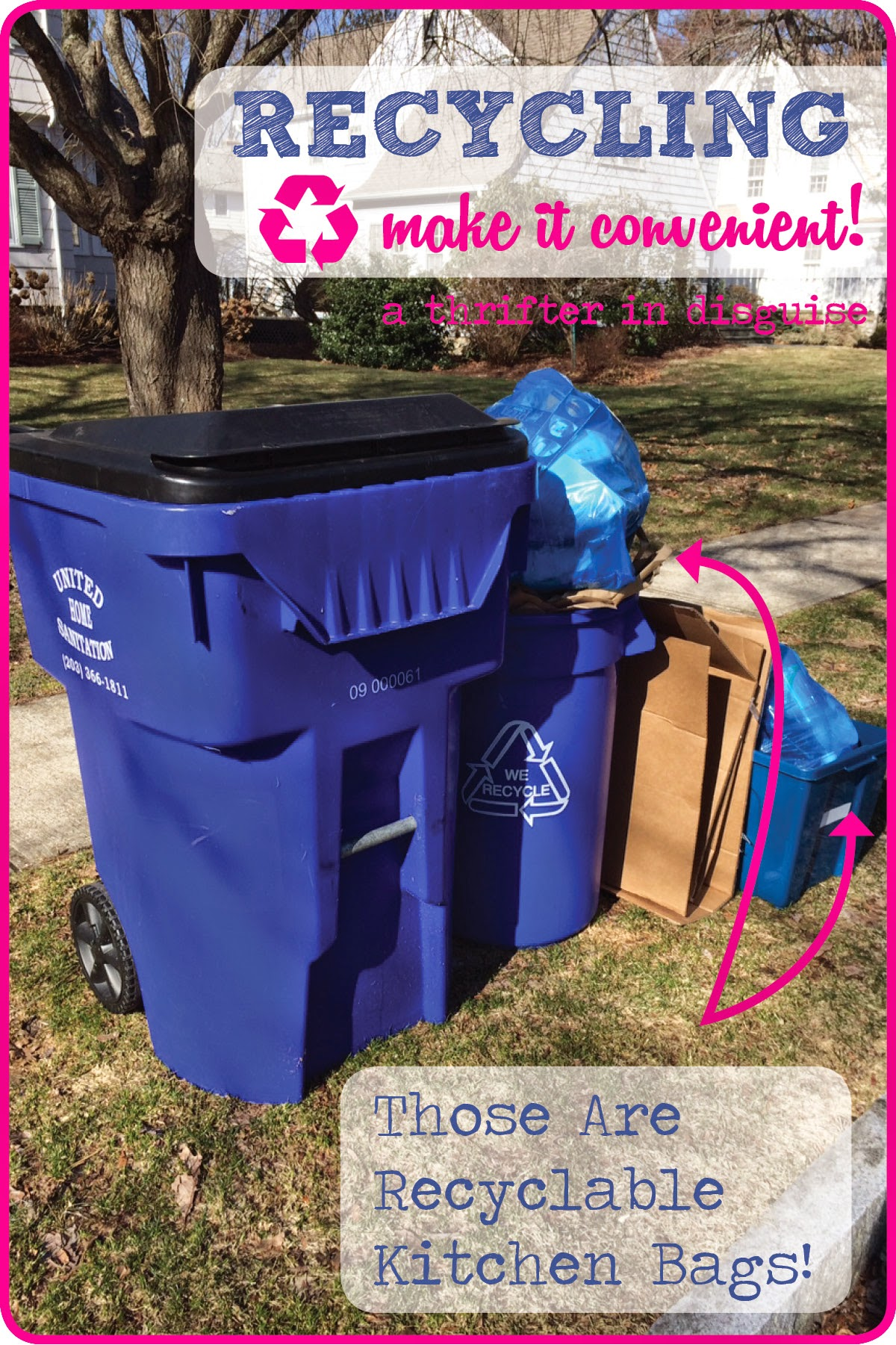 Single Stream Recycling Ideas via thrifterindisguise.com