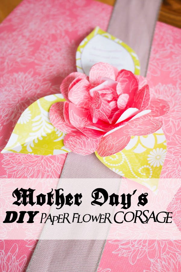 Mother day wrist corsage do it yourself handmade paper flowers by mothers are a great inspiration to us especially mine as she nurtured the art of paper flowerseing her and my aunt create wonderful paper and fabric mightylinksfo
