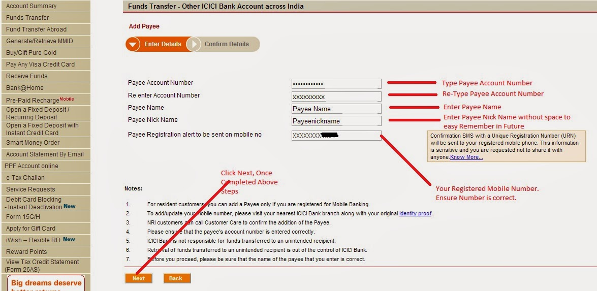 Email writing customer care icici bank