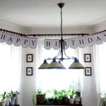 simple happy birthday garland free printable