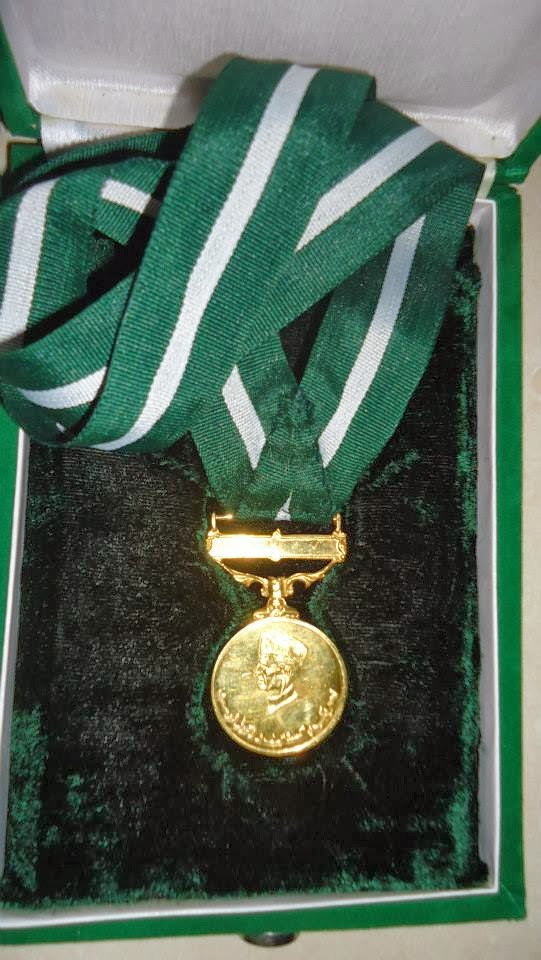 TEHREEK E PAKISTAN GOLD MEDAL FOR ACKNOWLEDGEMENT OF SERVICES FOR PAKISTAN MOVEMENT allama kaukab noorani okarvi