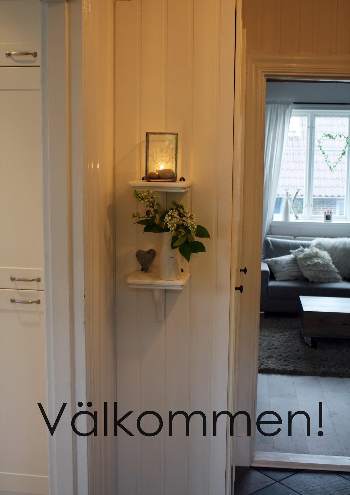 Prickar och pelargon: välkomnande hall!