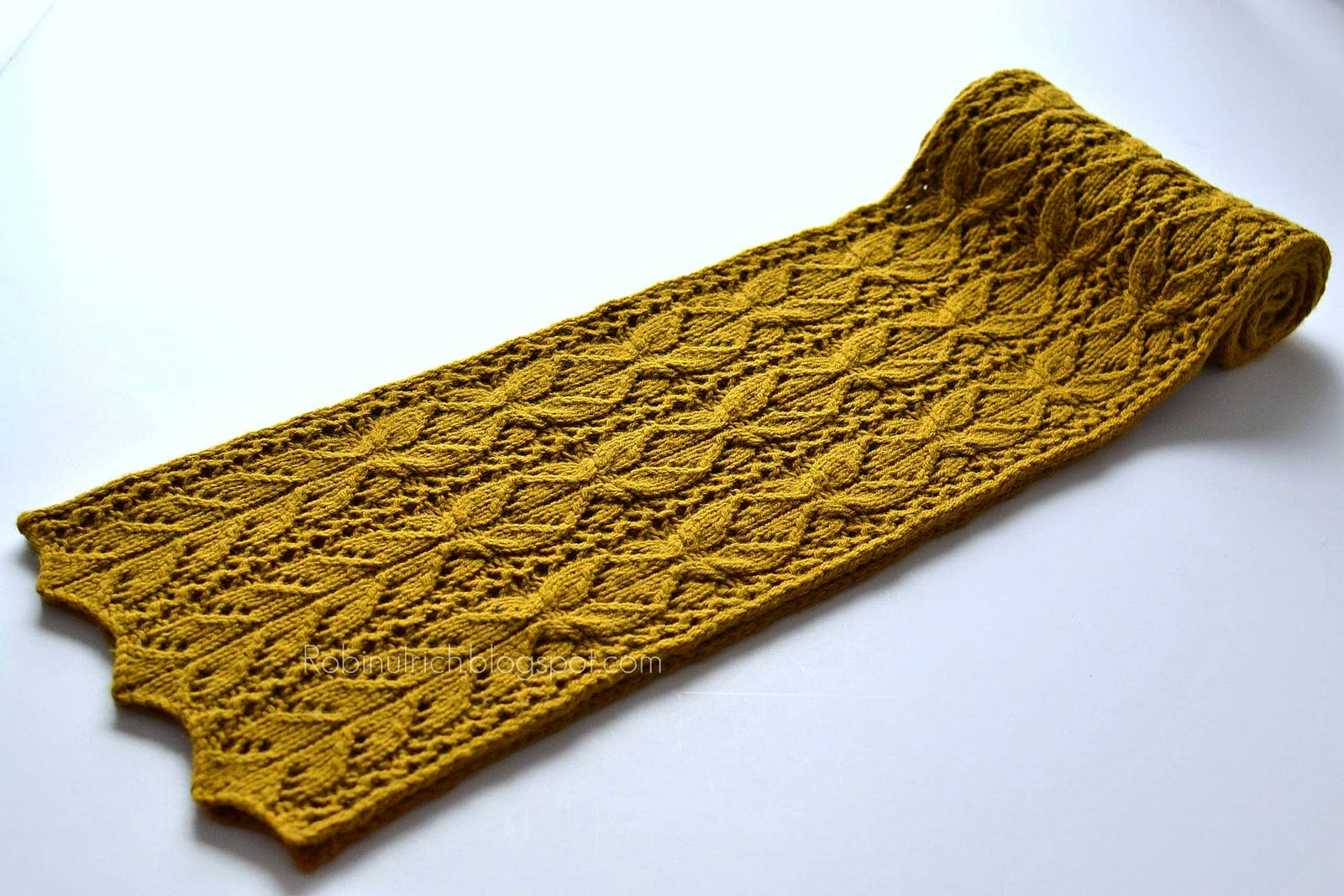 New Knitting Patterns : Robin Ulrich Studio: New Bosc Scarf Knitting Pattern & Recipe