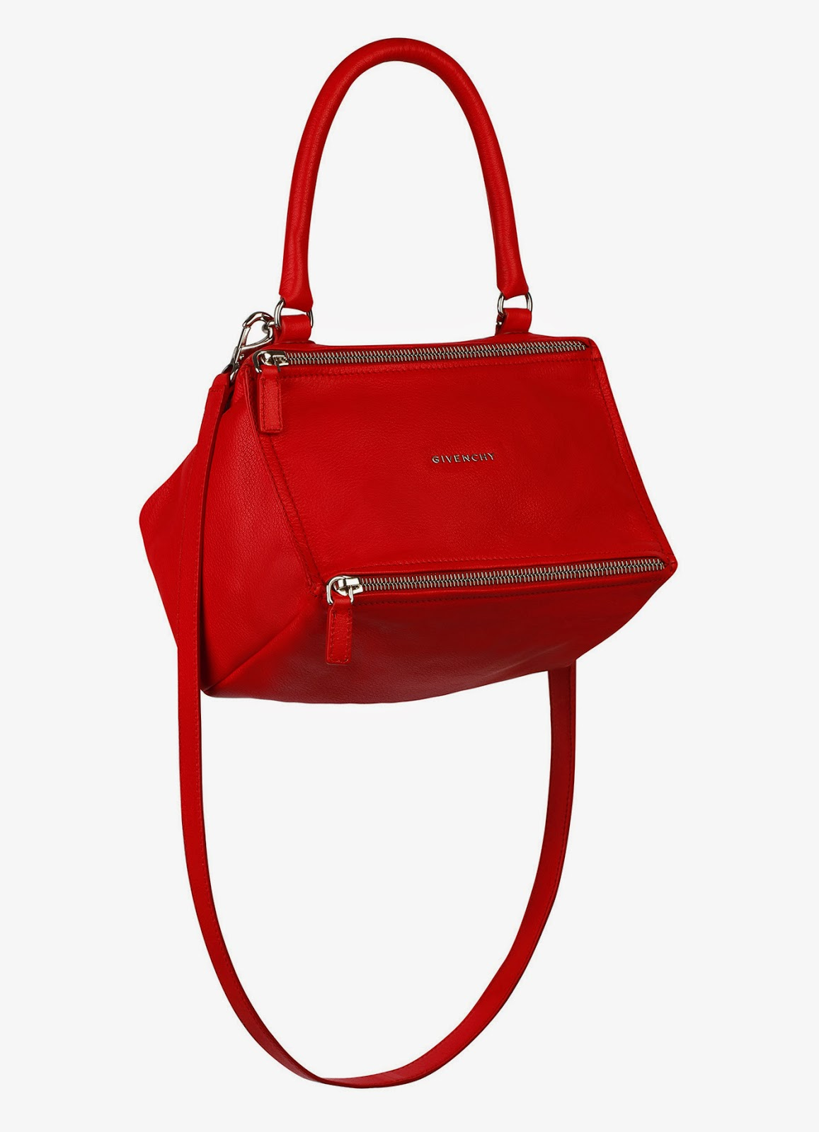 trend alert - red bags, givenchy pandora bag in red