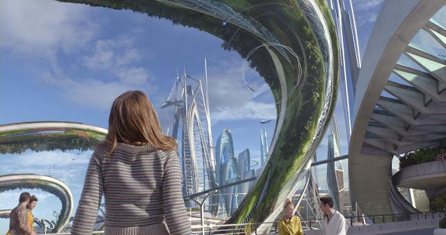 A glimpse of the futuristic world of the title