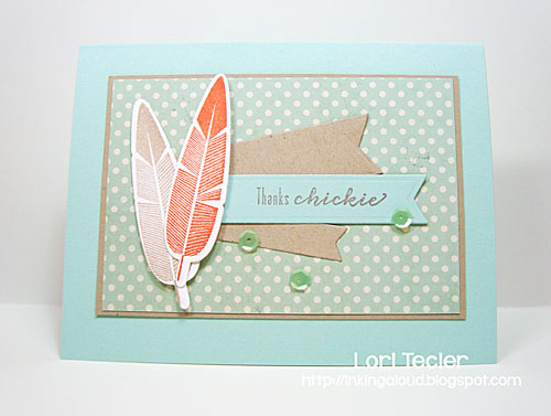 Thanks Chickie card-designed by Lori Tecler/Inking Aloud-stamps from Waltzingmouse Stamps