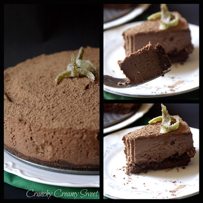 cheesecake+collage No Bake Chocolate Cheesecake   a Guest Post on A Culinary Journey with Chef Dennis