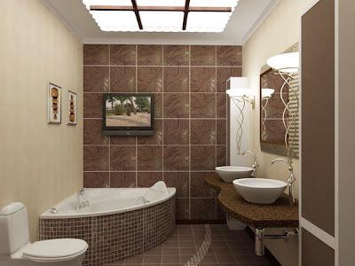 baño marron