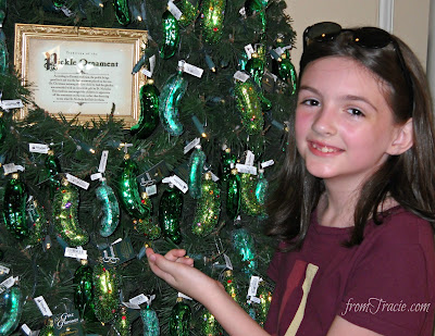 Pickle Ornament Christmas Tree