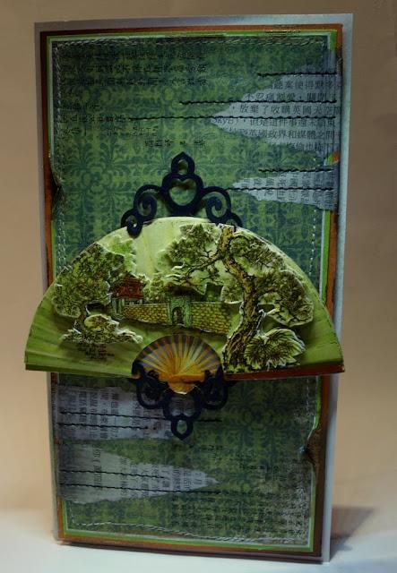 japan, handmade card, 3D paper, SPELLBINDERS - SHAPEABILITIES - FANCY TAGS TWO