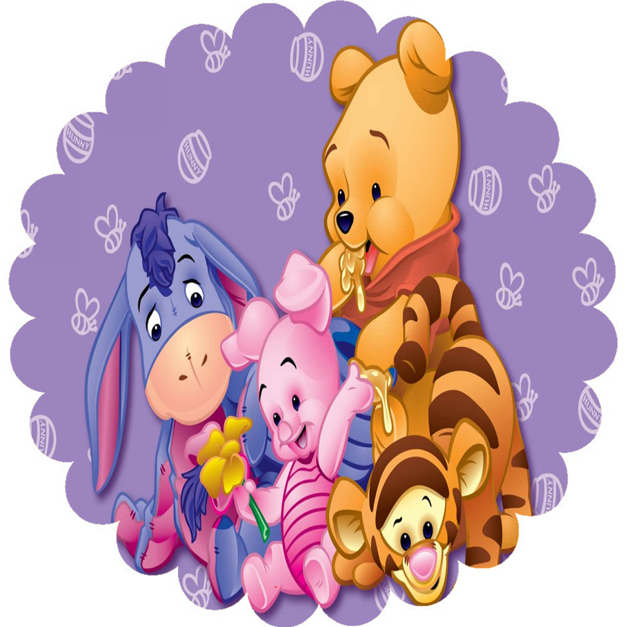 Winnie the Pooh: Free Printable Topper or Label.