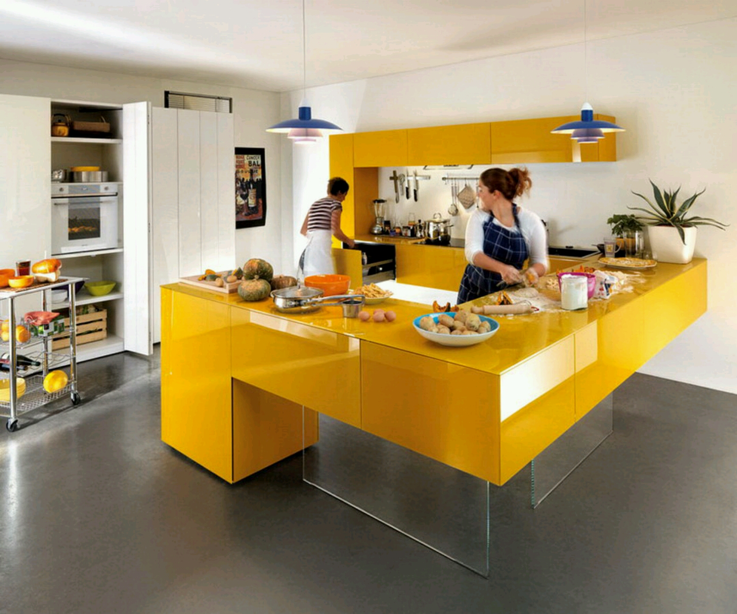 Modern kitchen cabinets designs ideas furniture gallery for Modern kitchen layout