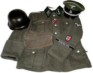 Uniforme empleado por los miembros de los Britisches Freikorps