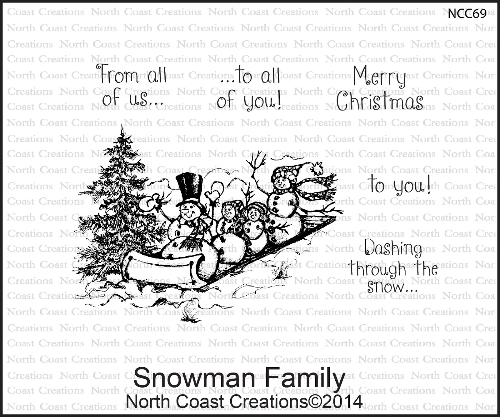 Stamps - North Coast Creations Snowman Familiy