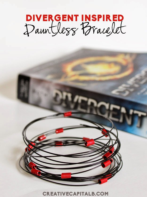 Divergent Inspired Dauntless bracelet tutorial