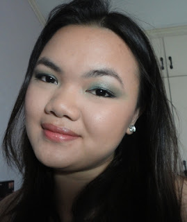 FOTD # 3: Teal and Peach @ Beauty Bunker