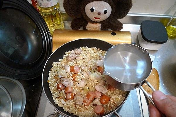 鶏肉のパエリア作り方(2)