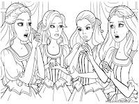 Gambar Barbie And Three Musketeer Untuk Diwarnai