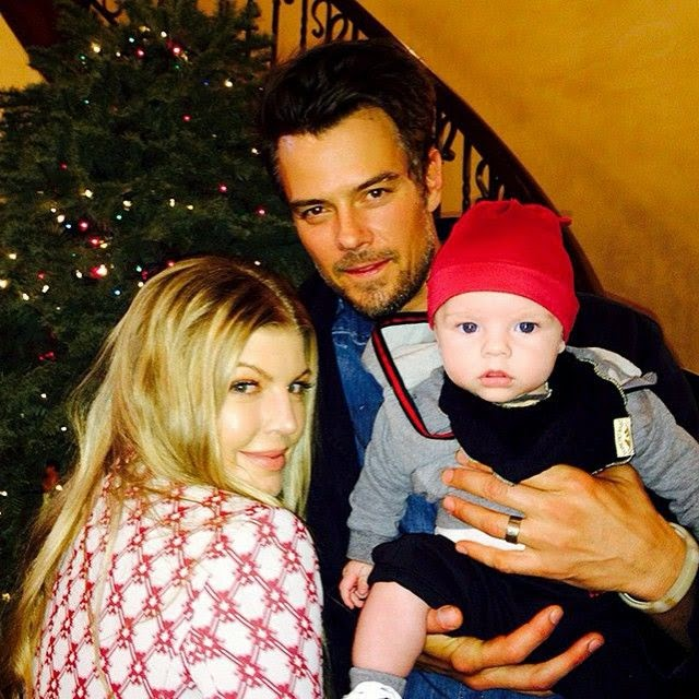 """Happiest Holidaze,"" Fergie captioned her baby image into her Instagram account."