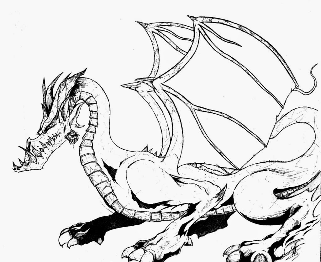 coloring pages with dragons - photo#40