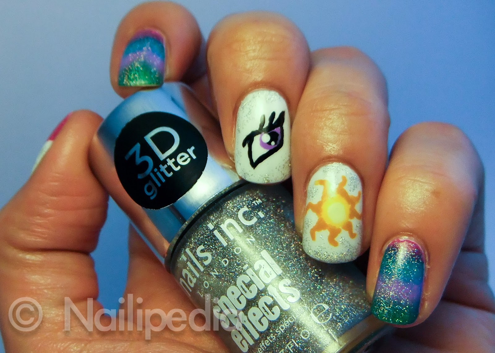 Nailipedia: Original Nail Art: Princess Celestia - My Little Pony ...