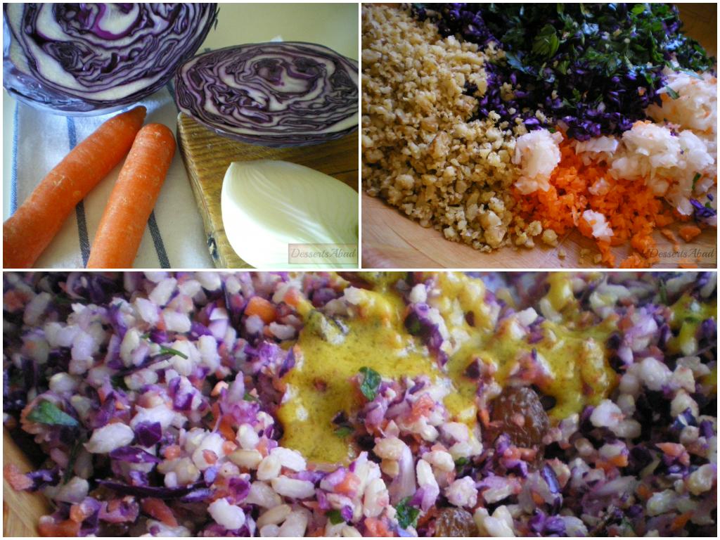 Ensalada de arroz y crudités (Ingredientes y elaboración)