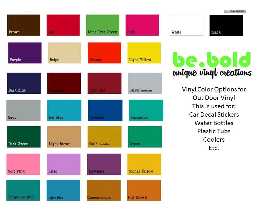 car decal vinyl color options. Black Bedroom Furniture Sets. Home Design Ideas
