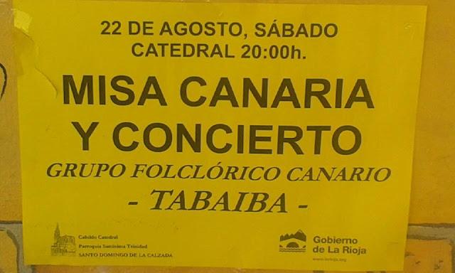 misa canaria en La Rioja, por el grupo Tabaiba