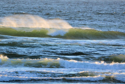 photo of summer waves at Rockaway Beach Oregon by Nancy Zavada