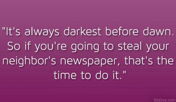 darkest before the dawn essay