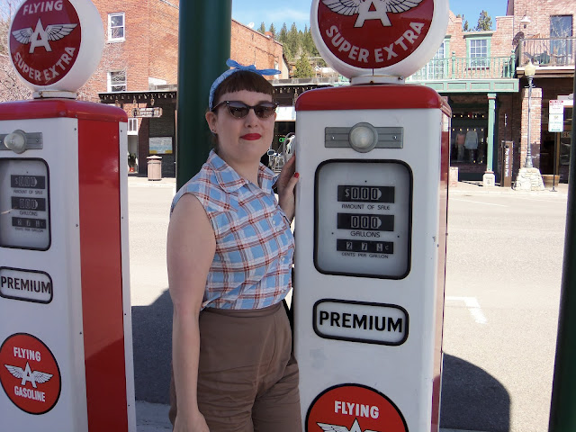 old gas pumps, vintage, gas station
