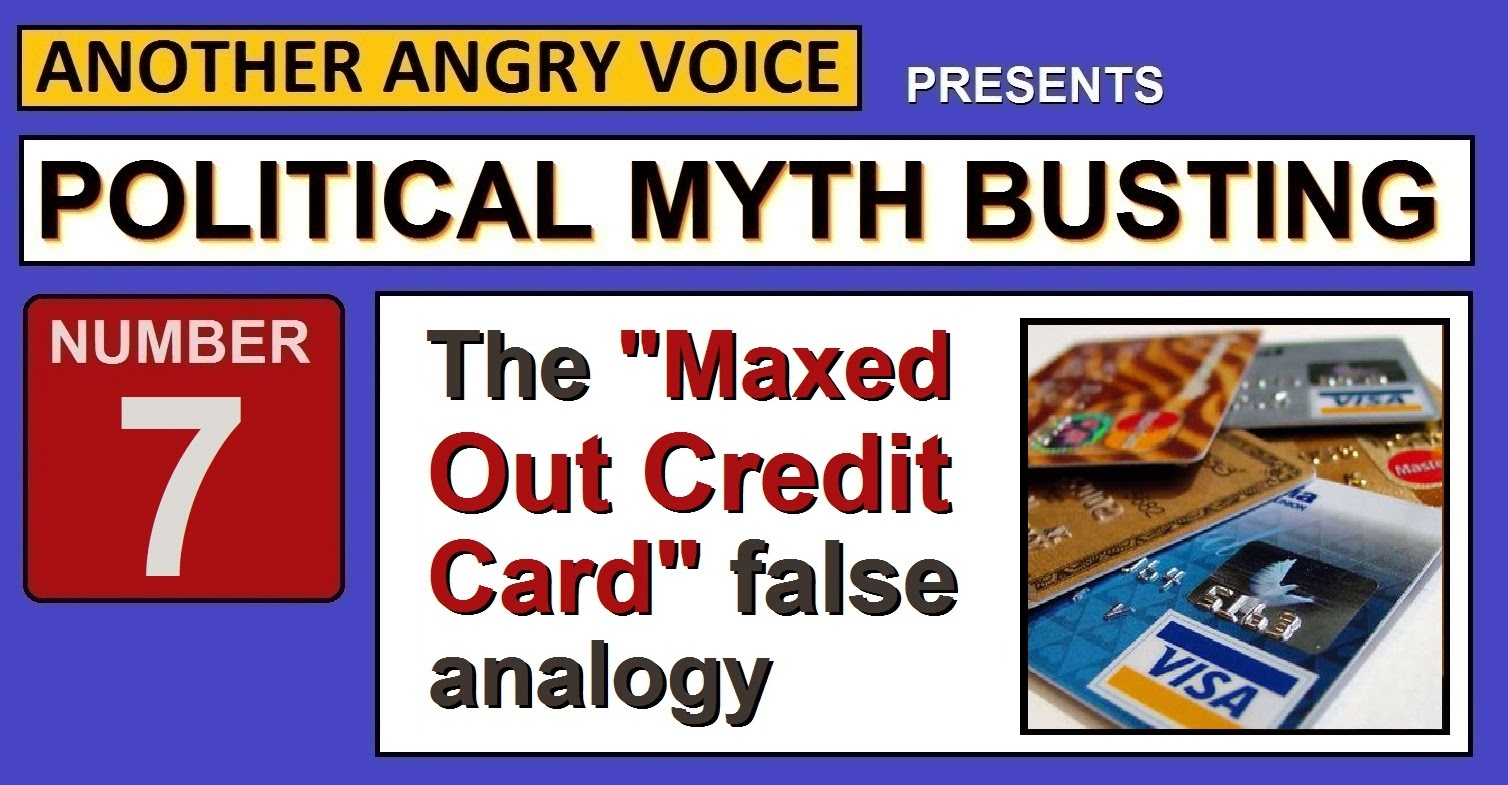 The Maxed Out National Credit Card False Analogy
