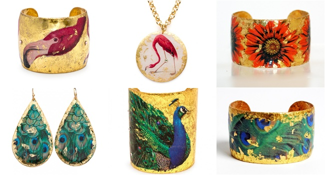 EVOCATEUR is a jewelry line made from the high quality 22K gold leaf as well as sterling silver leaf. Founder and designer Barbara Ross-Innamorati. Unique jewelry. Most beautiful jewelry.Evocateur The Gardens line.