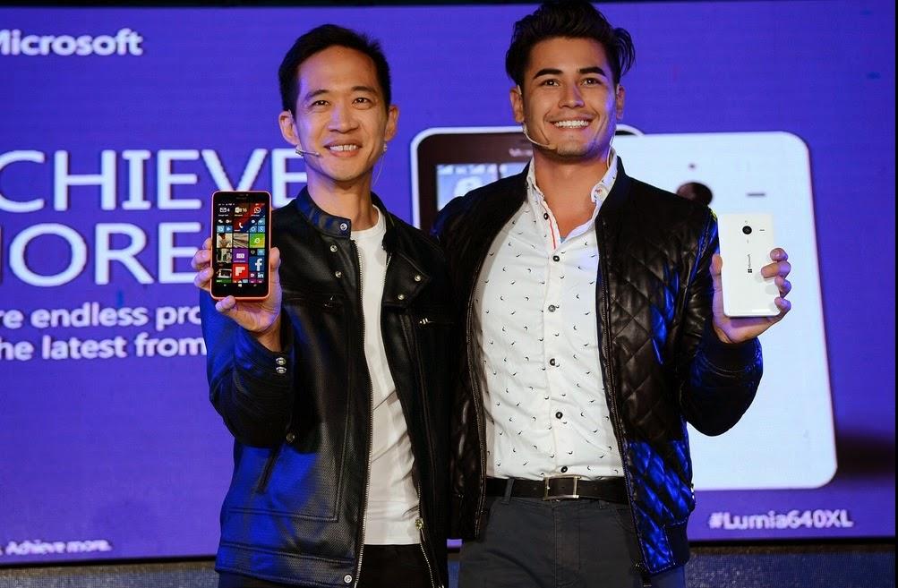 Fabio Ide, Gary Chan launch Lumia 640 XL