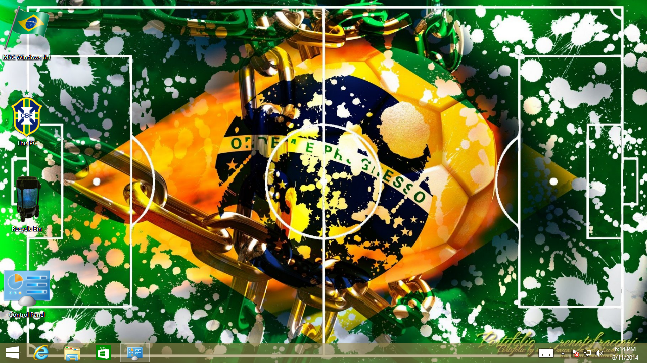 Free Brazil Team Football Windows Theme