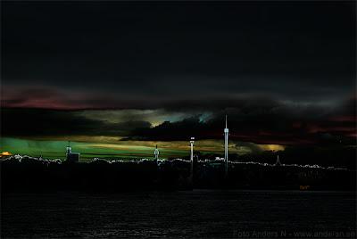 solnedgång, stockholm, sunset, djurgården, gröna lund, tivoli, skansen, kastellholmen, från söder, södermalm, tsyfpl, foto anders n