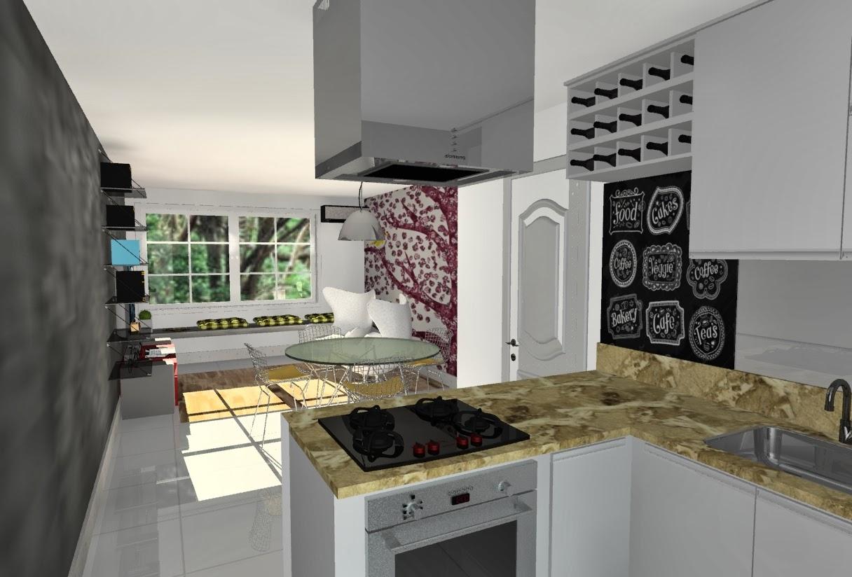 Design de Interiores : PROJETO COZINHA INTEGRADA #7E734D 1216 824