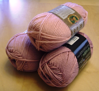 pink yarn for zombie brain cap