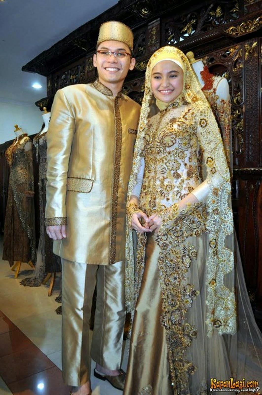 Kebaya pengantin muslim modern untuk pesta pernikahan