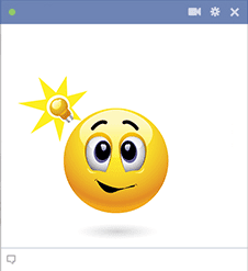 Facebook Emoticon with Light Bulb Idea