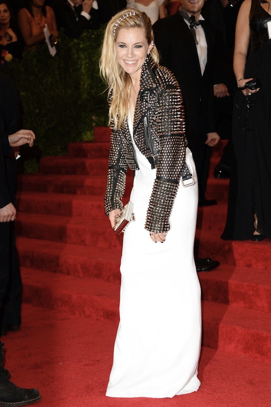 Sienna Miller Burberry Vogue Met Ball 2013 Red Carpet