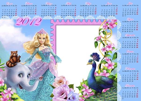 Calendarios 2012 PSD PNG