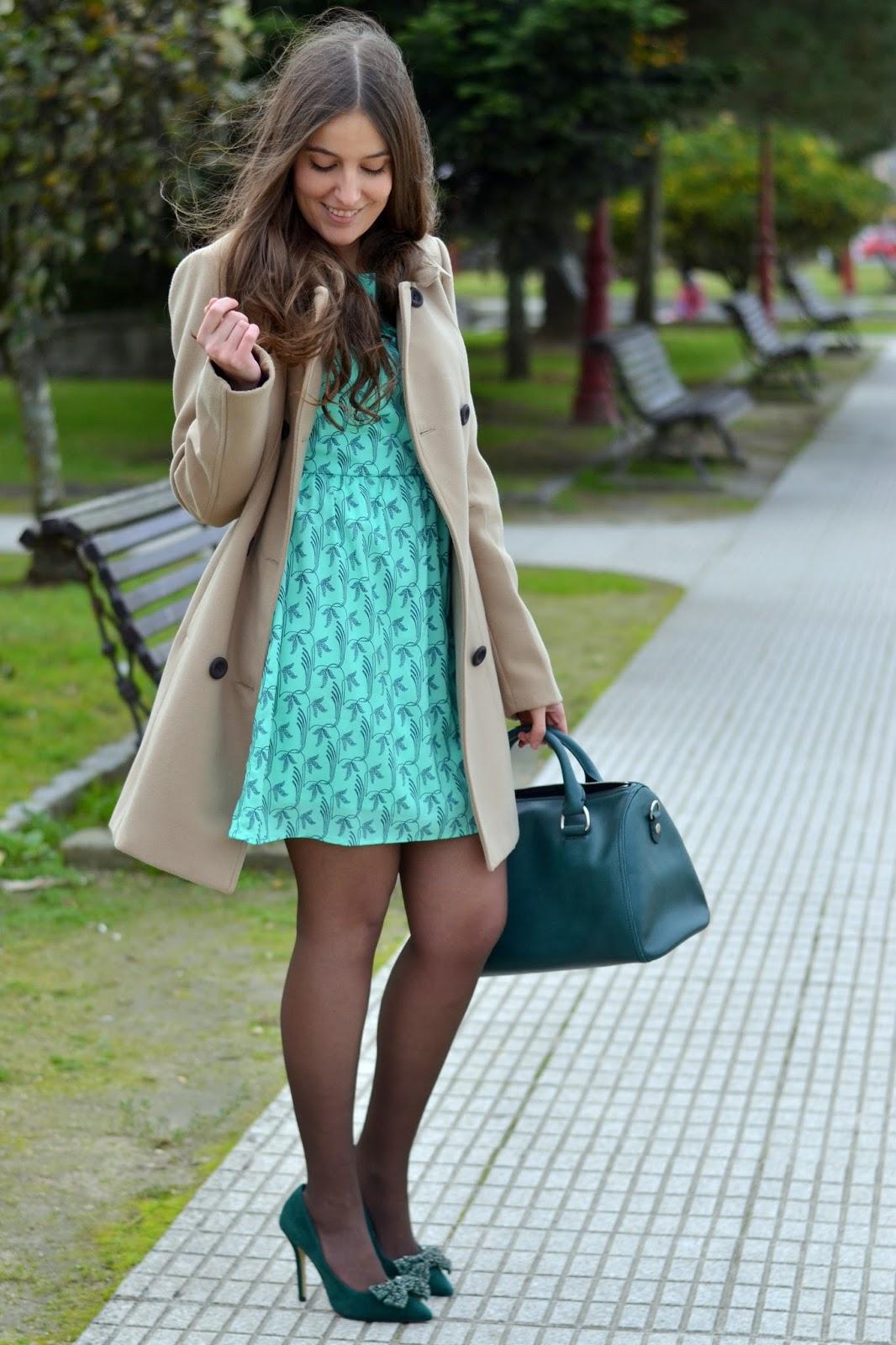 vestido verde de lucloset