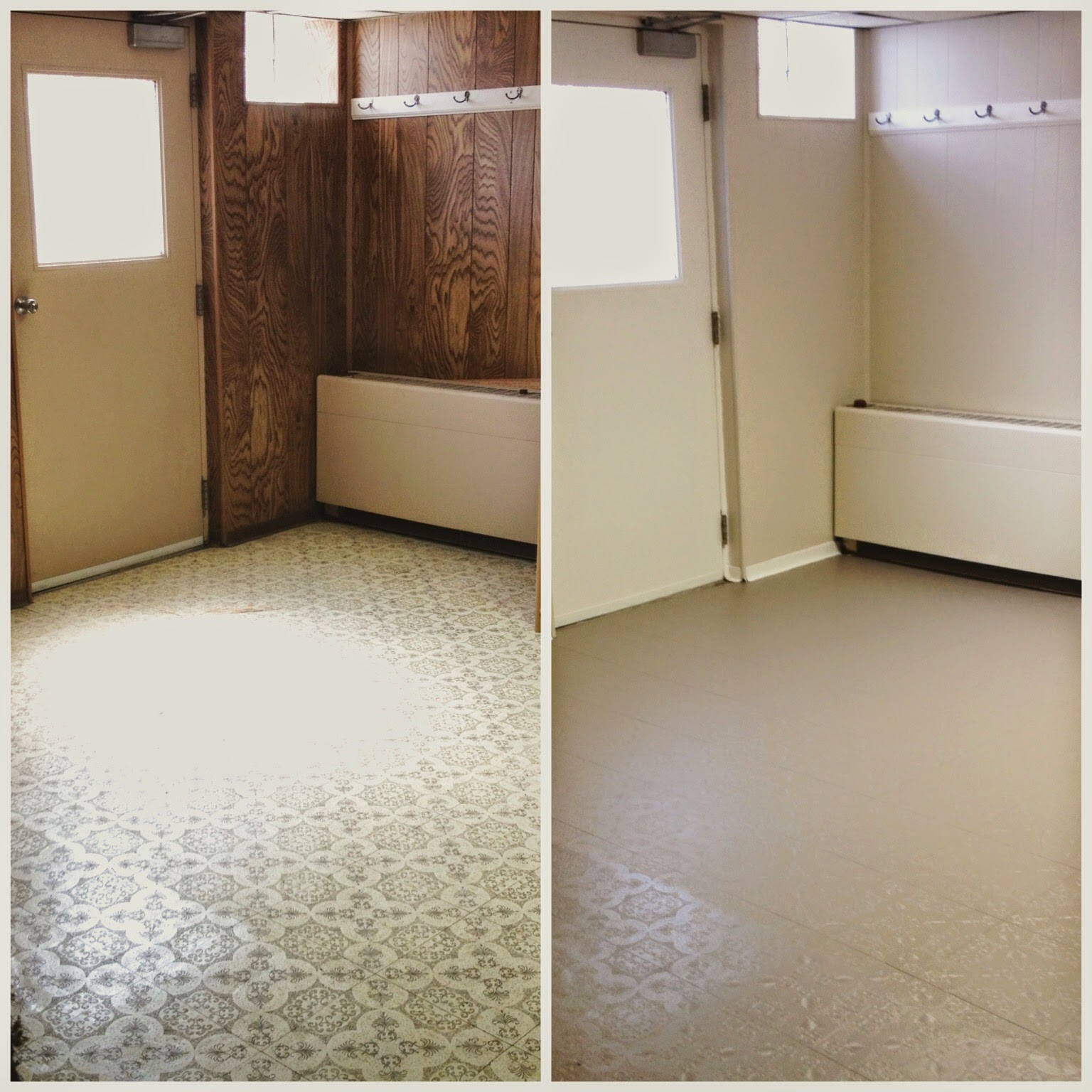 Linoleum Kitchen Flooring Pictures: The Owl's Skull: Painting Linoleum Floors: Basement Rehab