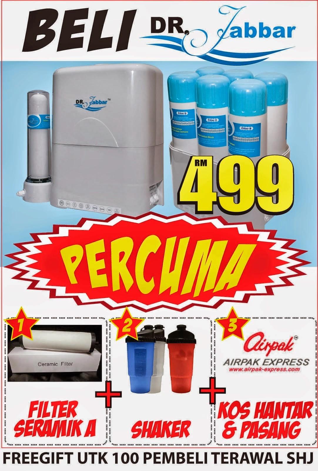 Promosi Penapis Air Dr Jabbar yang murah dan berkualiti