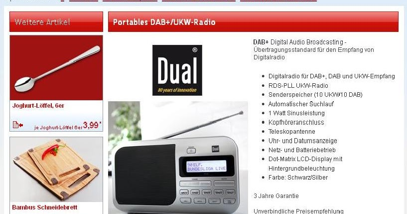 radio horeb digital dab dab radios bei norma und real. Black Bedroom Furniture Sets. Home Design Ideas