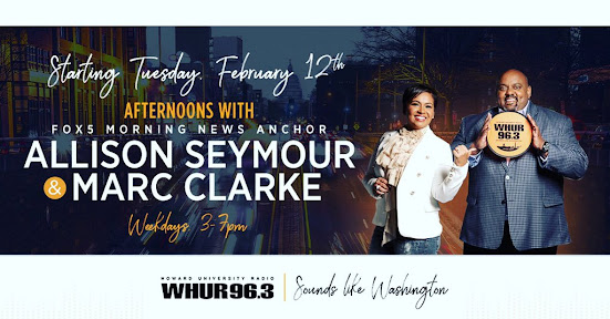 <b> Allison Seymour and Marc Clarke Afternoons on 96.3 WHUR</b><br><br>