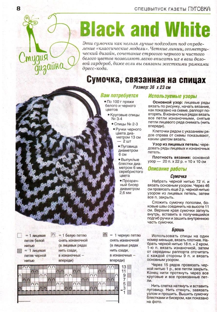 Вязание сумочки схемы и фото