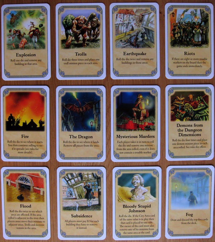 service manual  sle event cards board game