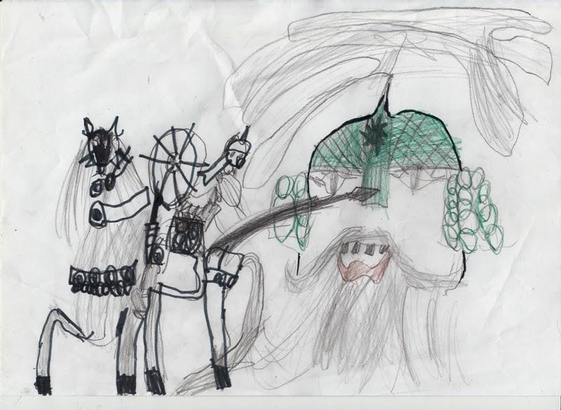 Рисунок бой руслана с головой отрывок из поэмы руслан и людмила читать - e